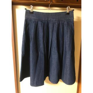 ジーユー(GU)のデニムフレアスカート(ひざ丈スカート)