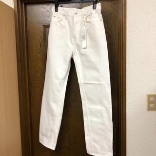 トゥモローランド(TOMORROWLAND)のGALERIE VIE ギャルリーヴィー コットン パンツ サイズ34 白 新品(デニム/ジーンズ)