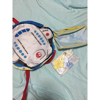ジャル(ニホンコウクウ)(JAL(日本航空))のJAL 非売品 リュック キッズ アメニティ ラゲッジタグ  鉛筆 ポーチ(旅行用品)