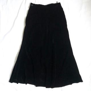 ラルフローレン(Ralph Lauren)の美品 ラルフローレン ベロアスカート フレアスカート ブラック黒 古着ビンテージ(ロングスカート)