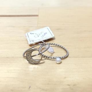 三日月 ピンキーリング 2個セット (シルバー)(リング(指輪))
