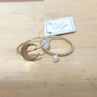 三日月 ピンキーリング2個セット (ゴールド)(リング(指輪))