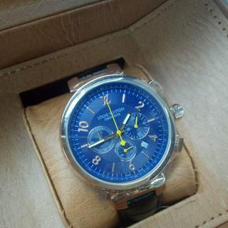 ルイヴィトン(LOUIS VUITTON)のレザーベルト LOUIS VUITTON ヴィトン 腕時計 クォーツ 未使用(レザーベルト)