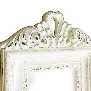 フランフラン(Francfranc)の鏡 ミラー 壁掛けミラー デコラティブ アンティーク シャビーシック  ホワイト(壁掛けミラー)