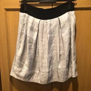 トゥモローランド(TOMORROWLAND)のトゥモローランド マカフィー シルバー膝丈スカート(ひざ丈スカート)