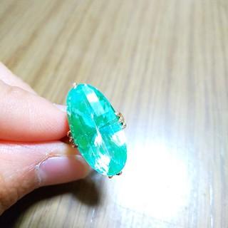 K18  ミントグリーン キャンディリング(リング(指輪))