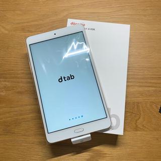 エヌティティドコモ(NTTdocomo)のネットワーク利用制限◯ dtab Compact d-02K ゴールド(タブレット)