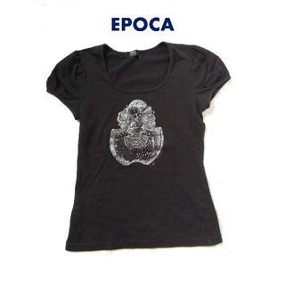 エポカ(EPOCA)の【EPOCA】パフスリーブ・半袖カットソー 黒 38(Tシャツ(半袖/袖なし))