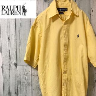 ラルフローレン(Ralph Lauren)の【定番アイテム】 ラルフローレン チェックシャツ 半袖 ビッグサイズ 胸元 刺繍(シャツ)