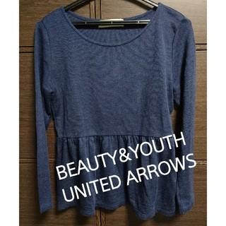 ビューティアンドユースユナイテッドアローズ(BEAUTY&YOUTH UNITED ARROWS)の美品 ビューティ&ユース ユナイテッドアローズ カットソー Tシャツ レディース(カットソー(長袖/七分))