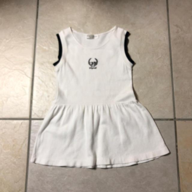 ベルメゾン(ベルメゾン)のBELLE MAISON ワンピース 白120  キッズ/ベビー/マタニティのキッズ服 女の子用(90cm~)(ワンピース)の商品写真