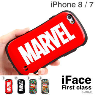 MARVEL - マーベル ロゴ iface iPhone7 iPhone8
