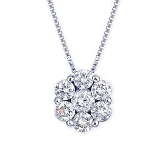 ポンテヴェキオ(PonteVecchio)の新品同様 プラチナ ダイヤモンド ネックレス(ネックレス)