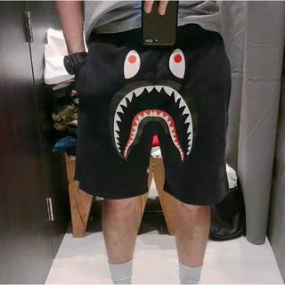 A BATHING APE - bape SHARK SWEAT SHORTS