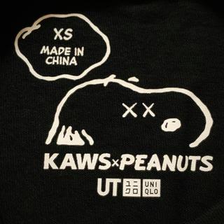 ユニクロ(UNIQLO)の❣️UNIQLO KAWS×PEANUTS Tシャツ❣️XS❣️(Tシャツ/カットソー(半袖/袖なし))