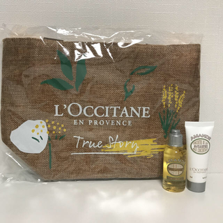 ロクシタン(L'OCCITANE)のロクシタン レーヌ会員限定トート&アーモンドシャワーオイル&ボディミルク(ボディクリーム)