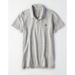 アメリカンイーグル(American Eagle)の3L ポロシャツ グレー (ポロシャツ)