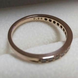 ヴァンドームアオヤマ(Vendome Aoyama)のK18ダイヤモンドハーフエタニティPG(リング(指輪))