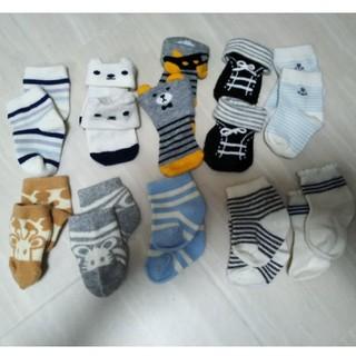 ニシマツヤ(西松屋)の新生児 男の子 靴下10足セット(靴下/タイツ)
