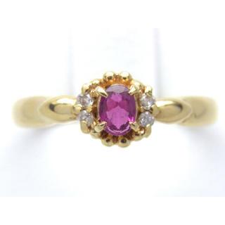 お値引き不可 K18 ルビー ダイヤモンド リング(リング(指輪))