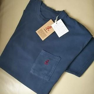 グラミチ(GRAMICCI)の★新品★GRAMICCI ワンポイント刺繍 半袖 ポケットTシャツ/ネイビーM(Tシャツ/カットソー(半袖/袖なし))