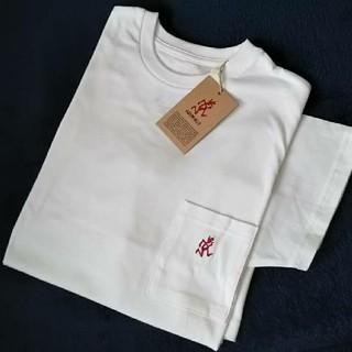 グラミチ(GRAMICCI)の◆新品◆GRAMICCI ワンポイント刺繍 半袖 ポケットTシャツ/ホワイトM(Tシャツ/カットソー(半袖/袖なし))