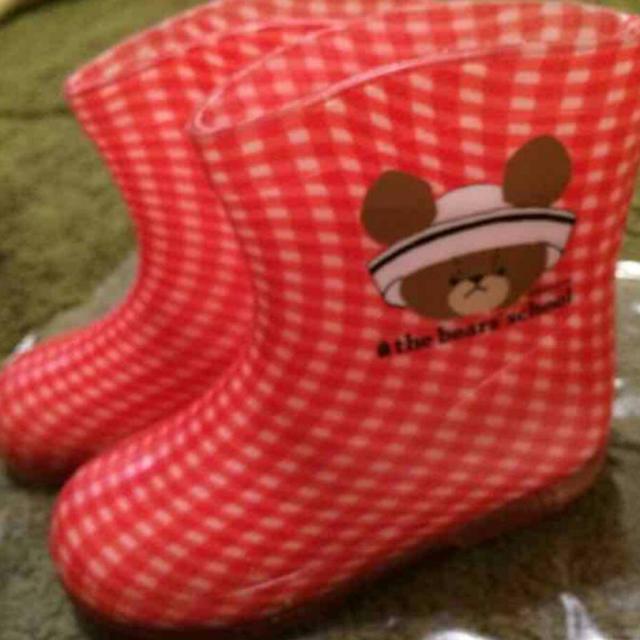 2足セット くまの学校  長靴  双子  美品  13cm  赤  黄 セット レディースの靴/シューズ(レインブーツ/長靴)の商品写真