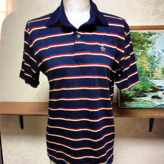 マンシングウェア(Munsingwear)のグランドスラムマンシングウェアメイドインUSAポロシャツをサイズLレディース(ポロシャツ)