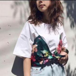 アメリヴィンテージ(Ameri VINTAGE)の◇ AMERI アメリヴィンテージ 切り替え 花柄 フラワー 半袖 Tシャツ(Tシャツ(半袖/袖なし))