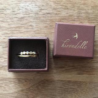 H.P.FRANCE - ++hirondelle イロンデール++リング 2つ k18 ダイヤ