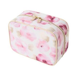 フランフラン(Francfranc)の新品フランフラン エーデル スクエアポーチ 花柄 ピンク(ポーチ)