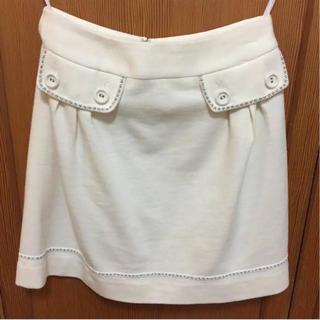 ネットディマミーナ(NETTO di MAMMINA)の台形スカート アイボリー  NETTO di  MAMMINA 値下げ中!(ミニスカート)
