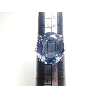 14. K14WG 青色石 8.142ct 指輪 リング 8.5号(リング(指輪))