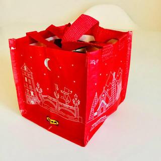 IKEA - IKEA ミニバッグ 赤 仕切バッグ ヴィンテルサー