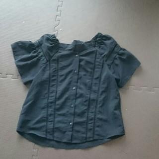ジーユー(GU)の試着のみ 黒 ブラウス(シャツ/ブラウス(半袖/袖なし))