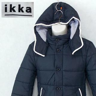 イッカ(ikka)の【ikka】 美品 イッカ ネイビー中綿ジャケット サイズM(ブルゾン)