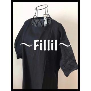 メルロー(merlot)の【Fillil/フィリル】バルーンスリーブワンピース 定番のブラック(ロングワンピース/マキシワンピース)