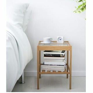 イケア(IKEA)のIKEAベッドサイドテーブルNESNA(棚/ラック/タンス)