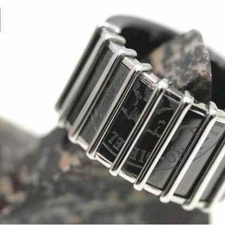ディーゼル(DIESEL)のDIESEL ディーゼル リング 指輪 17号 黒(リング(指輪))