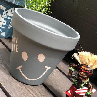 リメイク鉢 5号鉢 ニコちゃん(プランター)