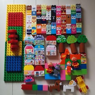 バンダイ(BANDAI)の【レアパーツ多数!】 ブロックラボ はじめてのブロックワゴン アンパンマン(積み木/ブロック)
