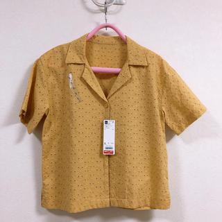 ジーユー(GU)のGU オープンカラーレースシャツ(シャツ/ブラウス(半袖/袖なし))