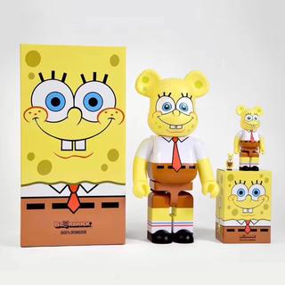 メディコムトイ(MEDICOM TOY)のBE@RBRICK SpongeBob 400% 100%(キャラクターグッズ)
