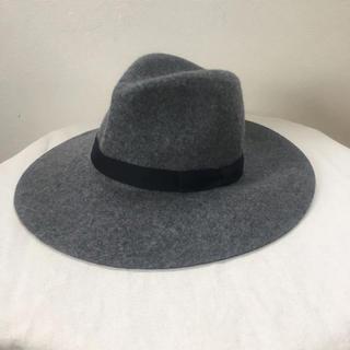 ユニクロ(UNIQLO)の帽子 ハット グレー ウールハット 女優帽(ハット)