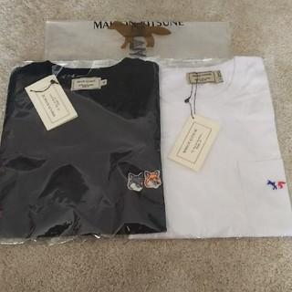 メゾンキツネ(MAISON KITSUNE')の2枚セット! ダブル、トリコロール Maison kitsune(Tシャツ/カットソー(半袖/袖なし))