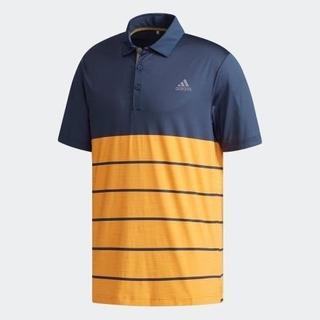アディダス(adidas)の新品 Lサイズ アディダスゴルフ ストレッチ半袖ポロシャツ UPF50+ 速乾(ウエア)