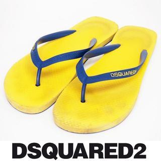 ディースクエアード(DSQUARED2)のDSQUARED2 中古本物 イエロー ビーチサンダル size 41(サンダル)