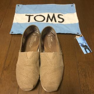 トムズ(TOMS)のTOMS サンドベージュスリッポン(スリッポン/モカシン)