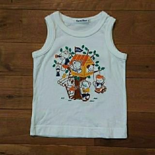 ファミリア(familiar)の美品 ファミリア タンクトップシャツ 80サイズ(タンクトップ/キャミソール)