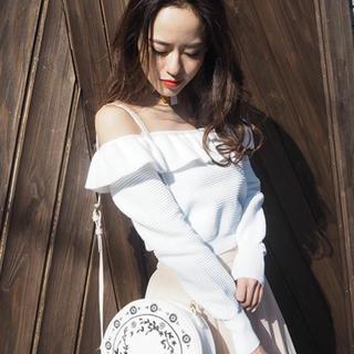 ムルーア(MURUA)の♡ MURUA ラッフルオフショルニット♡(カットソー(長袖/七分))